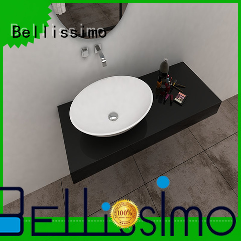 surface white modern solid surface wash basin basin Bellissimo Brand