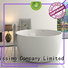 bathroom standing big Stone tub Bellissimo Brand