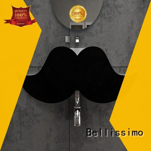 resin 8424 beard wall mounted wash basins bs8346 Bellissimo Brand