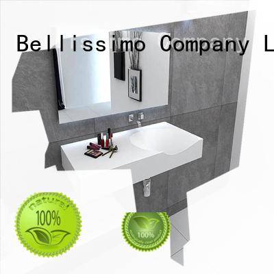 stone bathroom modern bs wall mounted wash basins Bellissimo