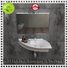 Bellissimo Brand stone black modern small wall mount bathroom sink