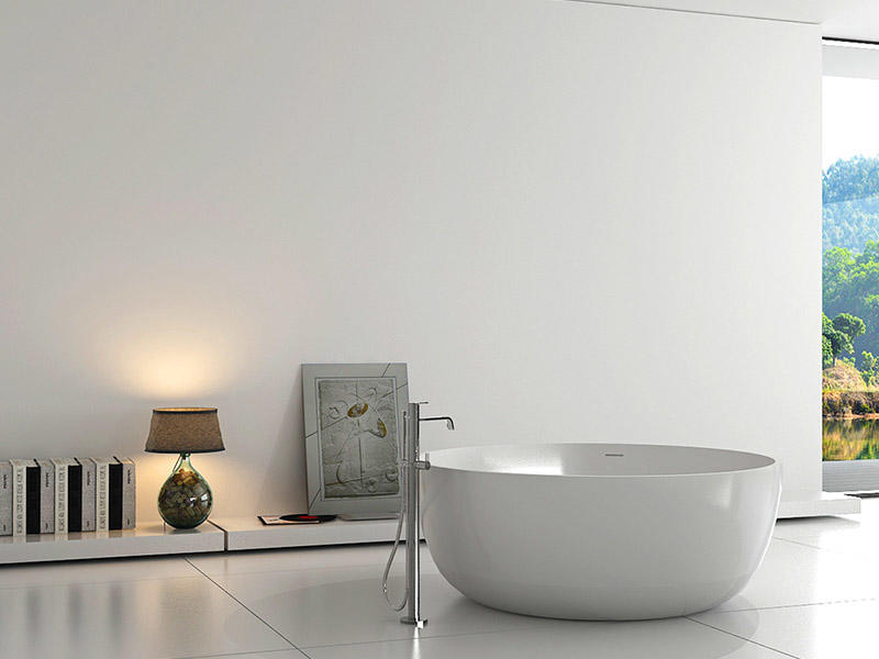 Bellissimo-Big Round 1500mm Resin Solid Surface Bathtub Bs-8615 | Solid Surface Bathtub-1