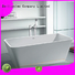 bathroom resin freestanding solid surface bathtub royal Bellissimo