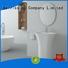 freestanding bathroom basin round solid sink Bellissimo Brand company