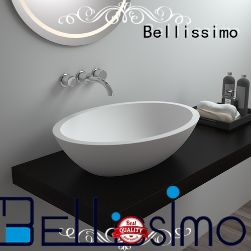 countertop basin wash solid surface wash basin Bellissimo Brand
