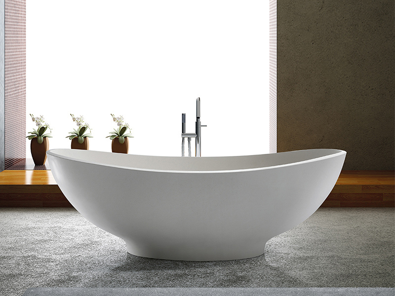 European style freestanding bathroom solid surface bathtub BS-8635