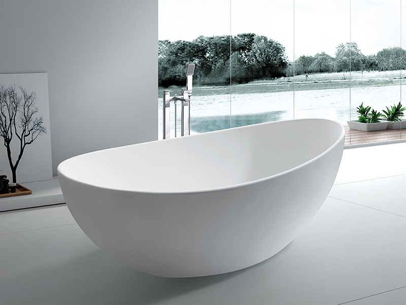 Customsolid surface bathroom free standing bathtub BS-8633A
