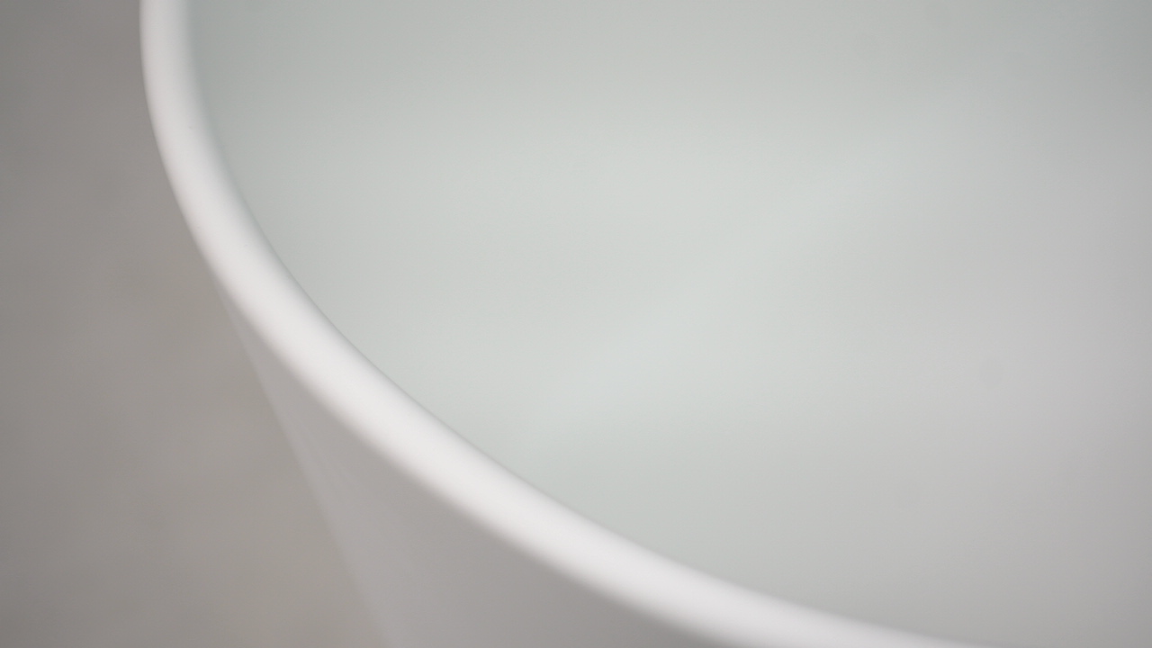 Bellissimo-Composite Stone Unique Arc Freestanding Solid Surface Bathroom