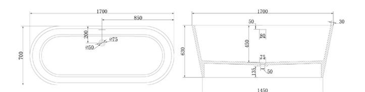 Bellissimo-Professional Best Acrylic Bathtub Stone Bathtub Manufacture-3