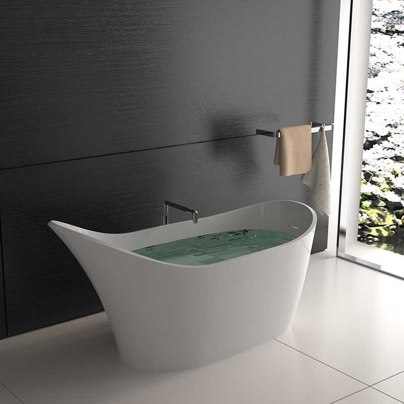 Bellissimo-Shoe Shaped Stone Resin Solid Surface freestanding bathtub-2