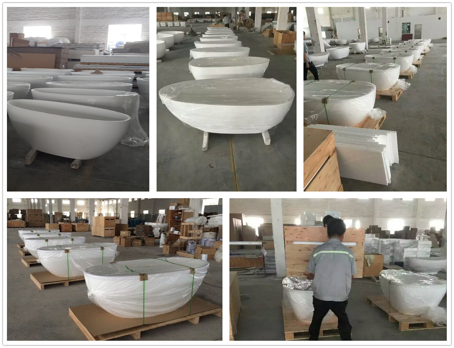 Bellissimo-Boat Shaped Stone Resin Freestanding solid surface bathtub-9