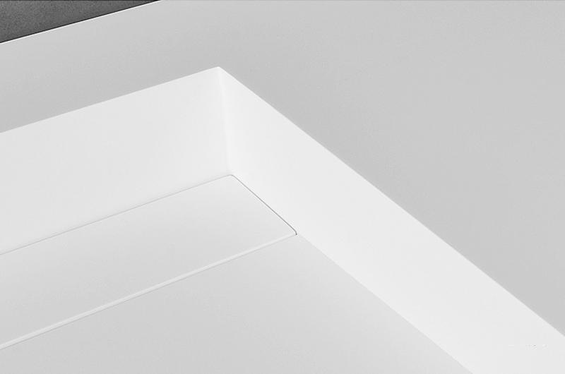 small wall mount bathroom sink shape beard black Bellissimo Brand company