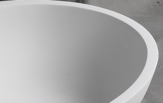 Bellissimo-Oval Shaped Solid Surface Counter Top Resin Stone Bathroom Sink-2