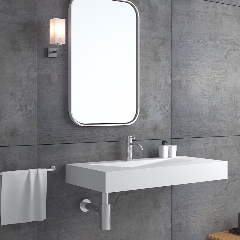 stone black bs8346 Bellissimo Brand small wall mount bathroom sink manufacture
