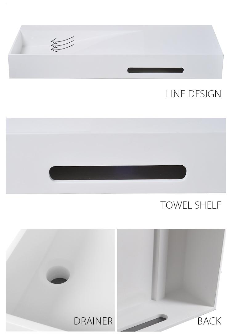 small wall mount bathroom sink bs8346 beard wall mounted wash basins solid Bellissimo Brand