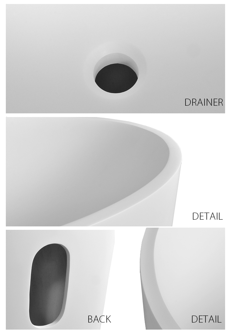 stone solid free standing sink double bs8514 Bellissimo company
