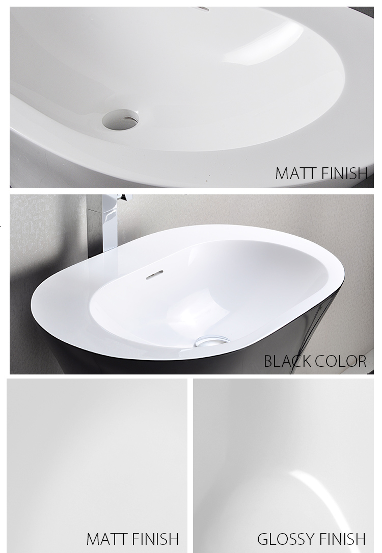 Bellissimo-Flat Shaped Black Color Options Freestanding Wash Basin