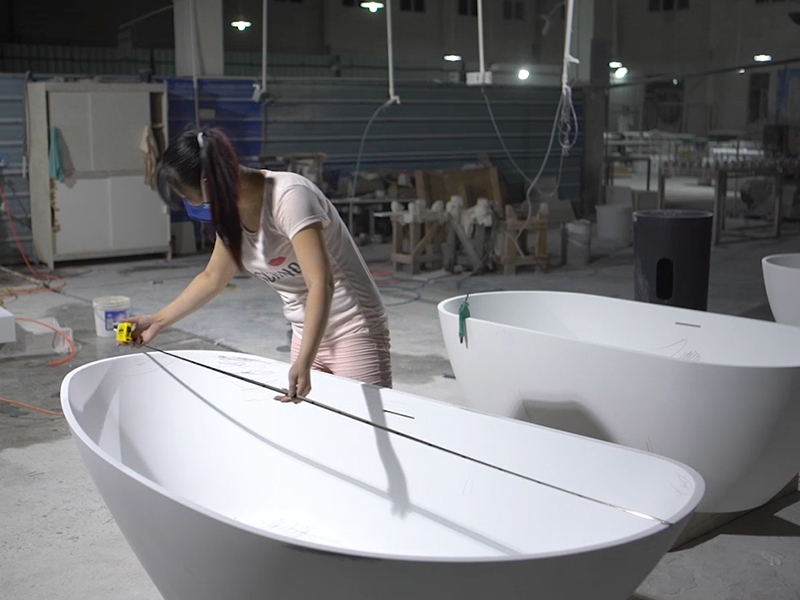 Bellissimo Solid surface & resin stone bathtub Measuring tolerance
