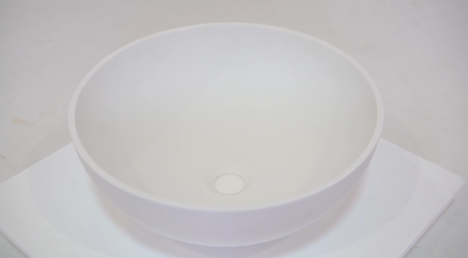 New Design Bathroom Basin,Commercial White Counter Top Lavatory Solid Surface Sink