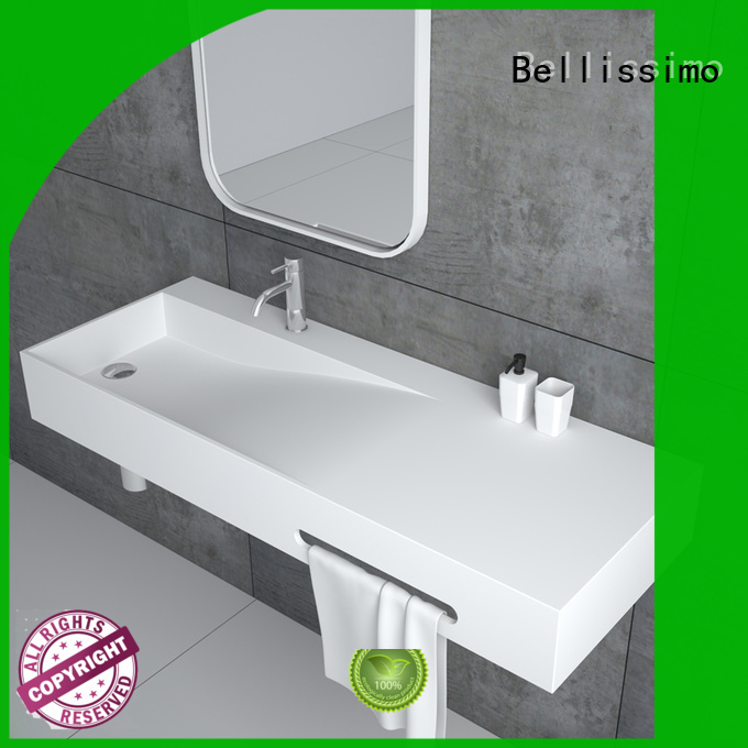 basin black bs8425 wall mounted wash basins design Bellissimo