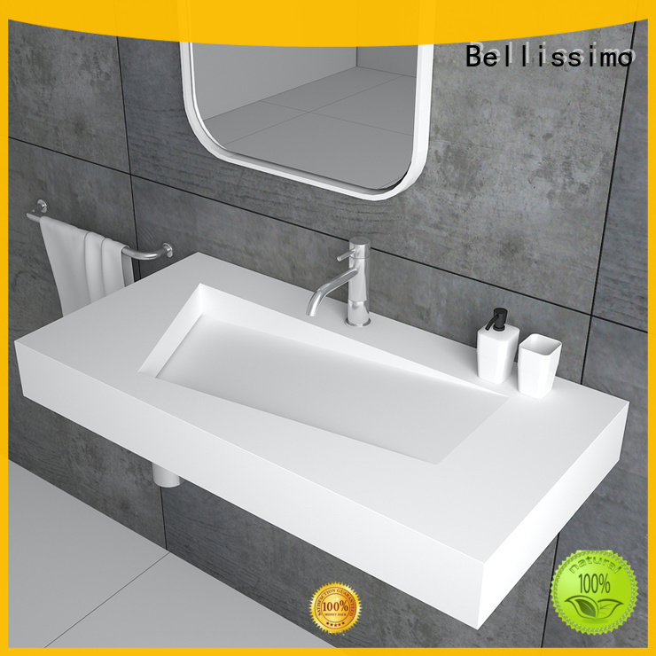 Bellissimo Brand design 8424 mounted small wall mount bathroom sink