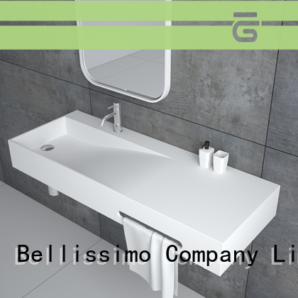 best modern wall mount sink manufacturer for hotel Bellissimo