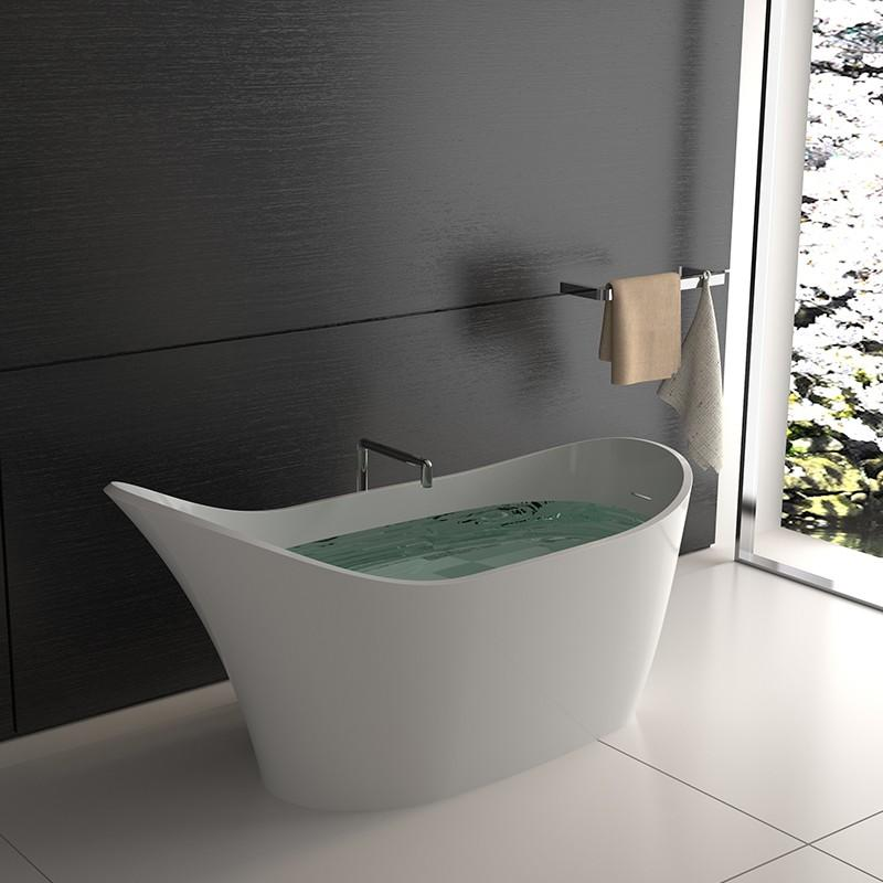 Bellissimo-Shoe Shaped Stone Resin Standalone Solid Surface Bathroom Freestanding-2
