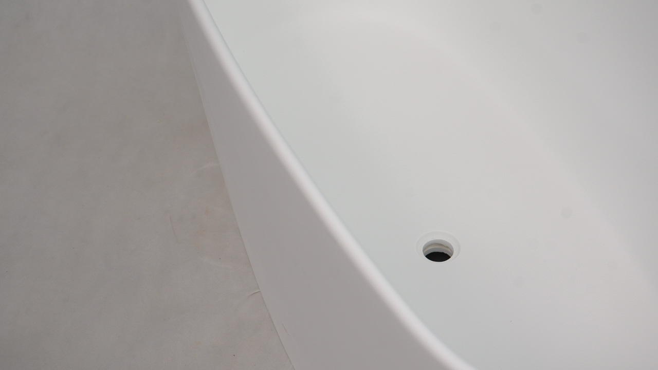 Bellissimo-Composite Stone Unique Arc Standalone Freestanding Solid Surface Bathroom-1