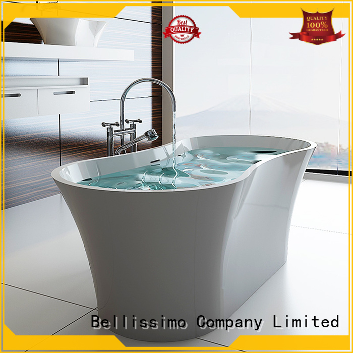 white bs8616 solid surface bathtub Bellissimo Brand
