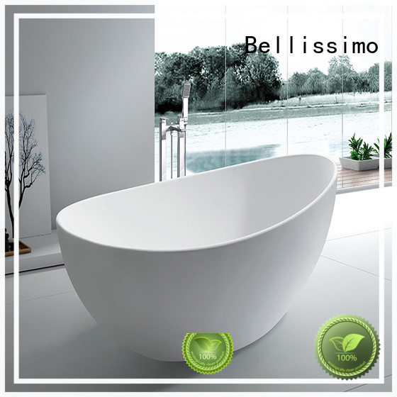 Bellissimo solid surface freestanding tubs with special skirt stone for sale