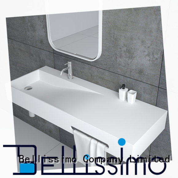 Bellissimo wall mounted wash basins supplier for hotel