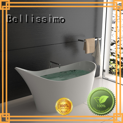 Stone tub bs8633a shape solid surface bathtub Bellissimo Brand