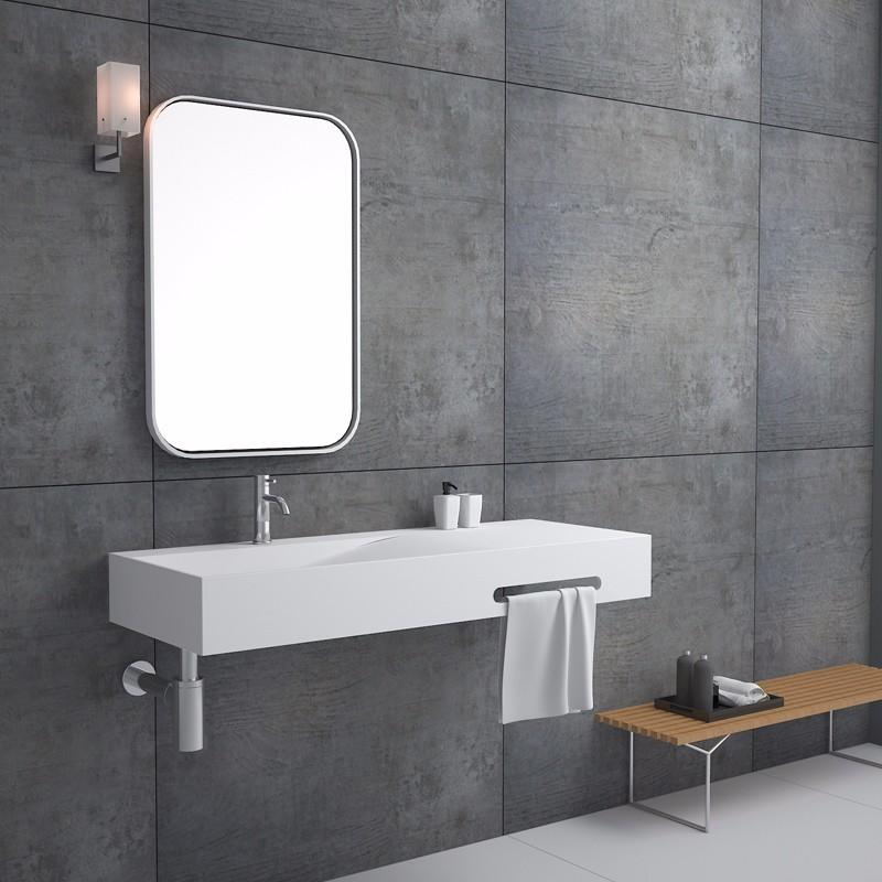 Bellissimo-Manufacturer Of Rectangular Shaped Wall Hung Mounted Wash Basin With Towel