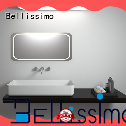 Bellissimo solid surface sink cast for hotel