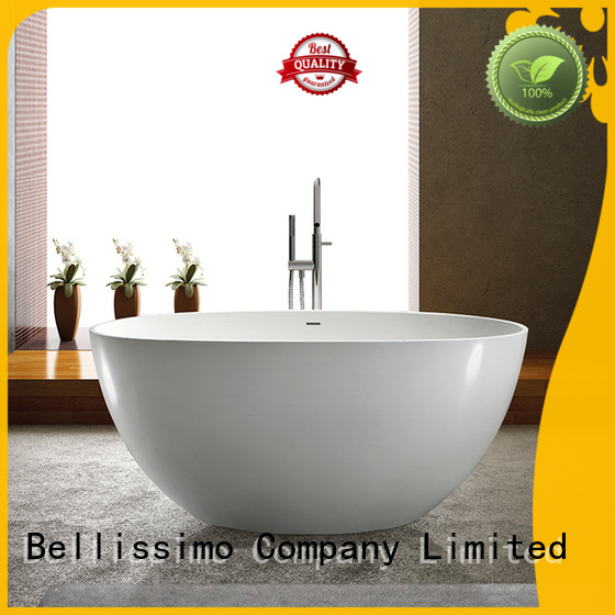 Bellissimo Brand oval white design custom Stone tub