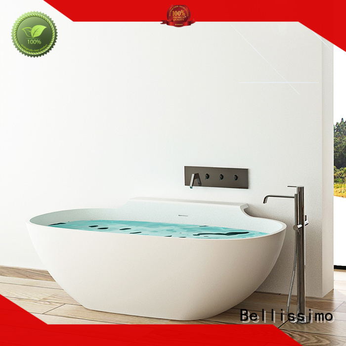 customsolid Stone tub oval Bellissimo company