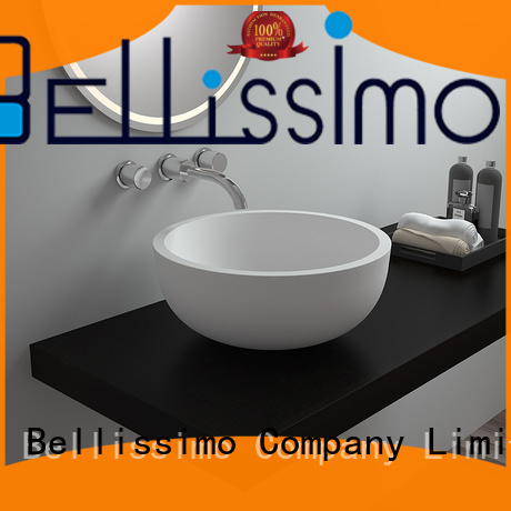 stone bs8322 sink unique solid surface wash basin Bellissimo
