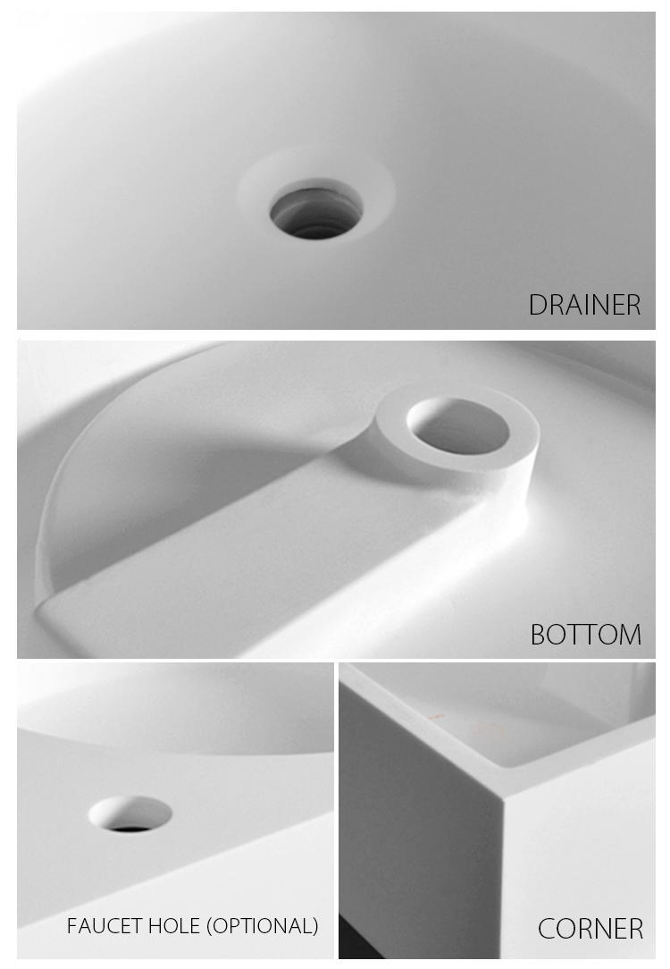 Bellissimo-Best Solid Surface Resin Stone Wall Mounted Basin Bs-8416 Manufacture-2