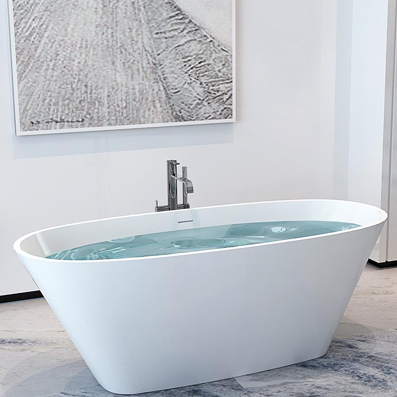 Bellissimo-Stone resin solid surface design freestanding floor mounted bathtub-2
