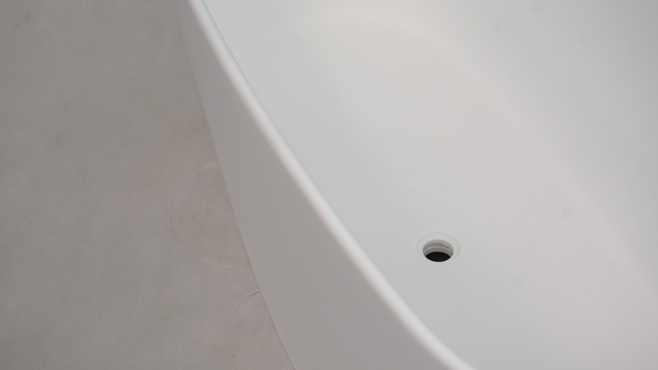 Stone tub freestanding bs8633a 1500mm Bellissimo Brand solid surface bathtub