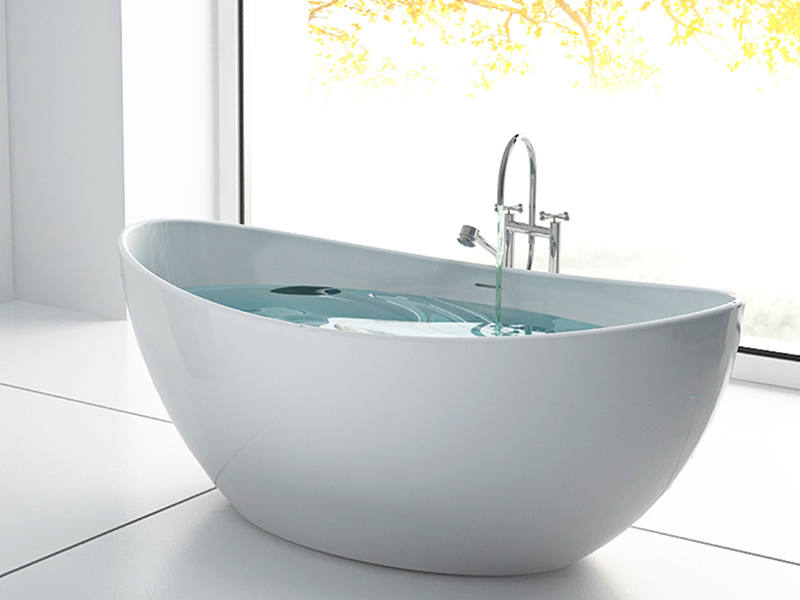 Boat shaped artificial stone solid surface bathtub BS-8633A product presentation-Bellissimo
