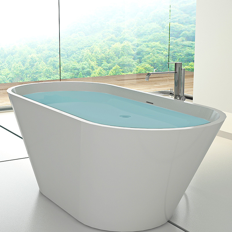 1800 mm Artificial stone Bathroom bath tube solid surface freestanding resin bathtub BS-8619