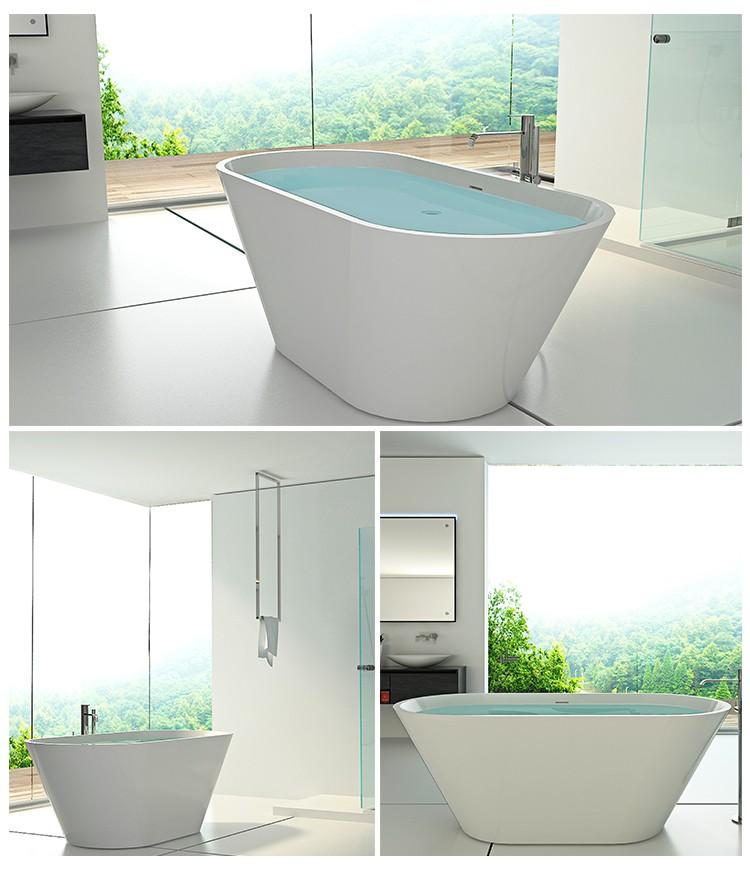 Bellissimo-Artificial stone Bathroom tube solid surface freestanding resin bathtub-2