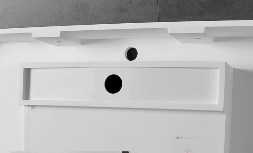 Bellissimo-Rectangular Wall Hung Mounted Cabinet Bathroom Solid Surface Sink-4