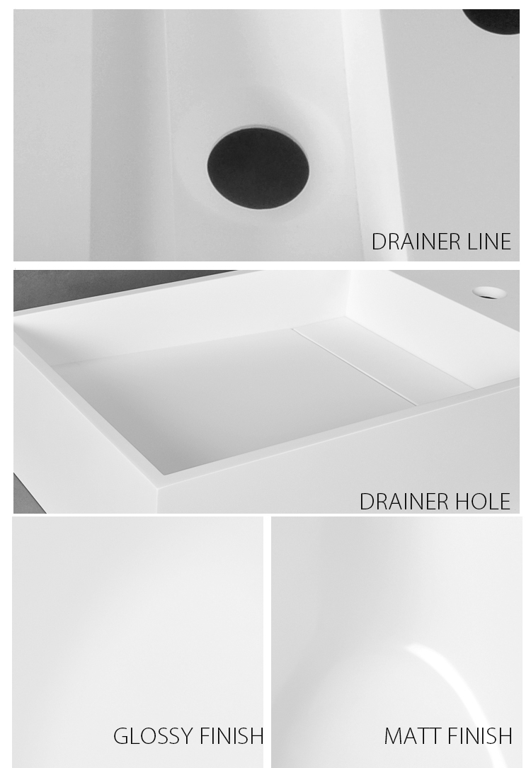 Bellissimo-750 Mm Hotel Wall Hung Mounted Solid Surface Bathroom Stone Sink-2