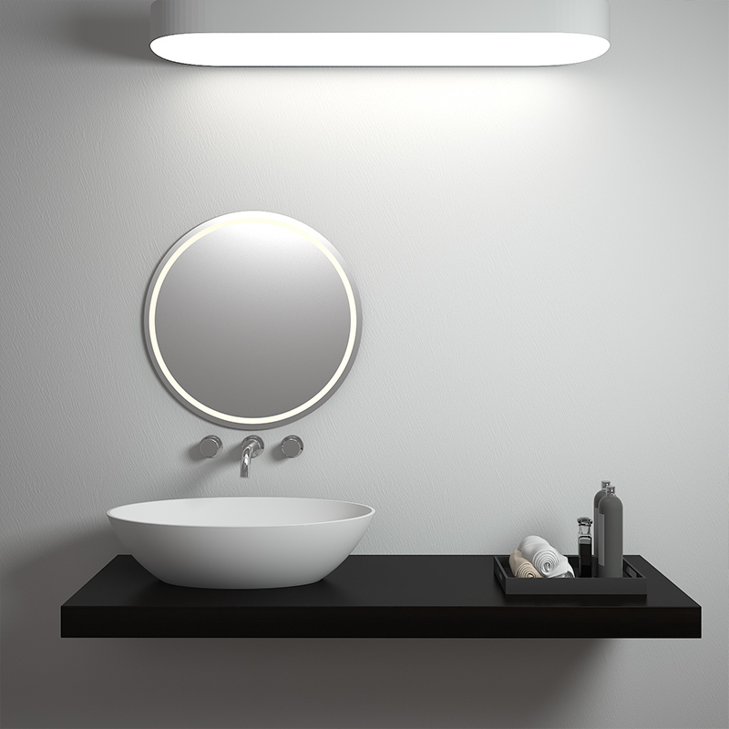1 mm Thin edge counter top bathroom egg shaped solid surface stone cast stone wash hand basin BS-8302T