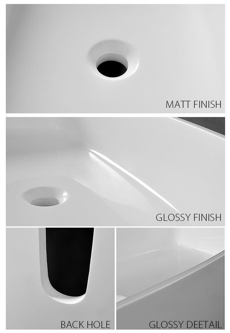 Bellissimo-Unique design solid surface bathroom cast resin freestanding sink-1