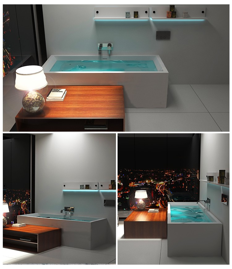 Bellissimo-High-quality Solid Surface Stone Resin Bathtub Bs-8614 | Solid Surface Bathtub-2
