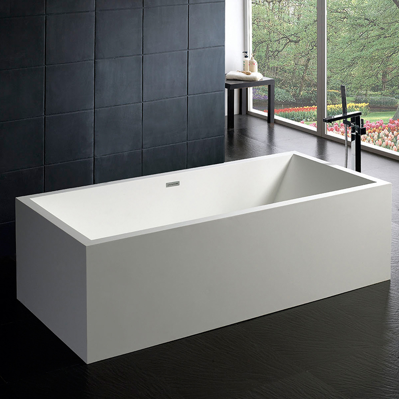 Solid surface stone resin bathtub BS-8614