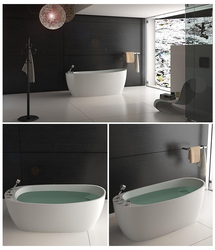 Bellissimo-High-quality Solid Surface Resin Stone Bathtub Bs-8623 | Bathtub-2